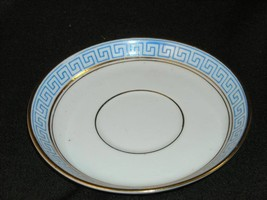 Antique English Lion maker's mark Teacup Greek pattern teacup saucer
