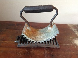 Antique Deaccessioned Cast Iron Geneva Hand Fluter with Base image 1