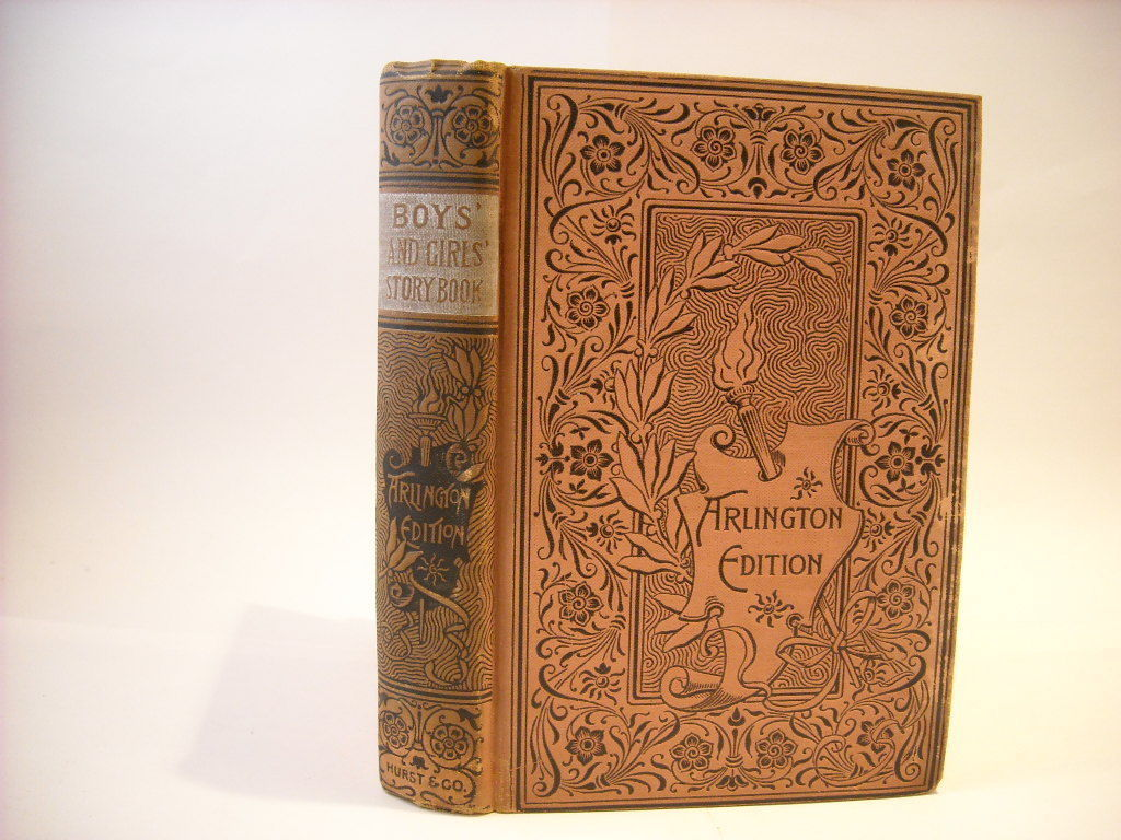 Antique Hardcover 1894 Boys and Girls Story Book Arlington Edition Illustrated
