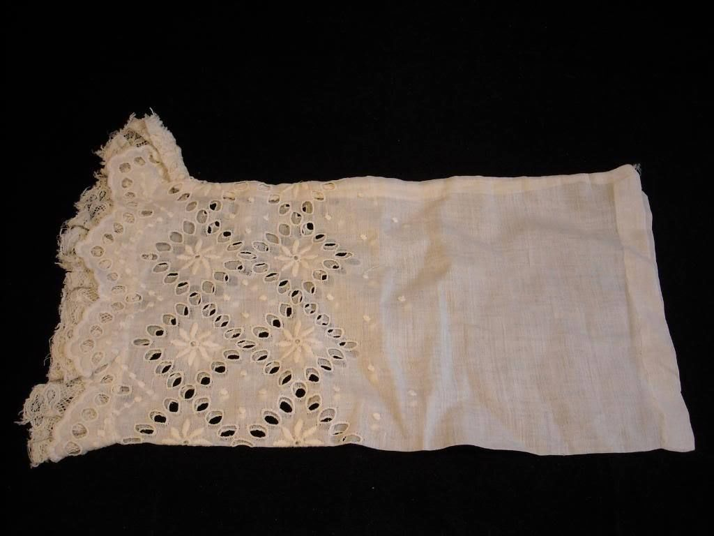 Antique Lace and embroidered eyelet fabric pillowcase sham