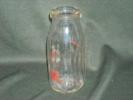 Antique Nadler Bros half pint Milk Bottle 1900s clear