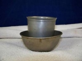 Antique Metal Cup and Small Bowl