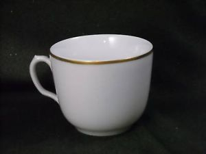 Antique Porcelain Tea Cup w Gold Overlay Ring early American CFH