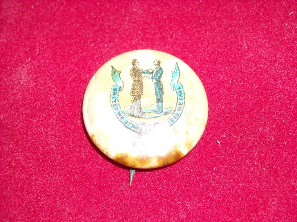 Antique United We Stand Button Kentucky Pin