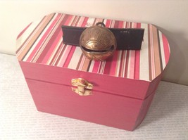 "Antique Retired Reindeer Sleigh Bell In Wood Box Handpainted by Elves - 1 5/8"" - $49.50"