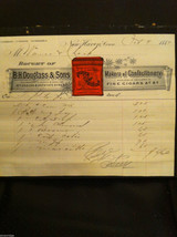 Antique Receipt 1884 BH Douglass and Sons New Haven CT Confections and Cigars