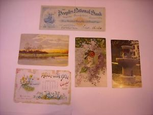 Antique Turn of the Century Gift cards Souvenirs 1886
