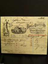 Antique Receipt 1860 Robert Graves Paper Hangings Brooklyn NY to Sandy Hook CT