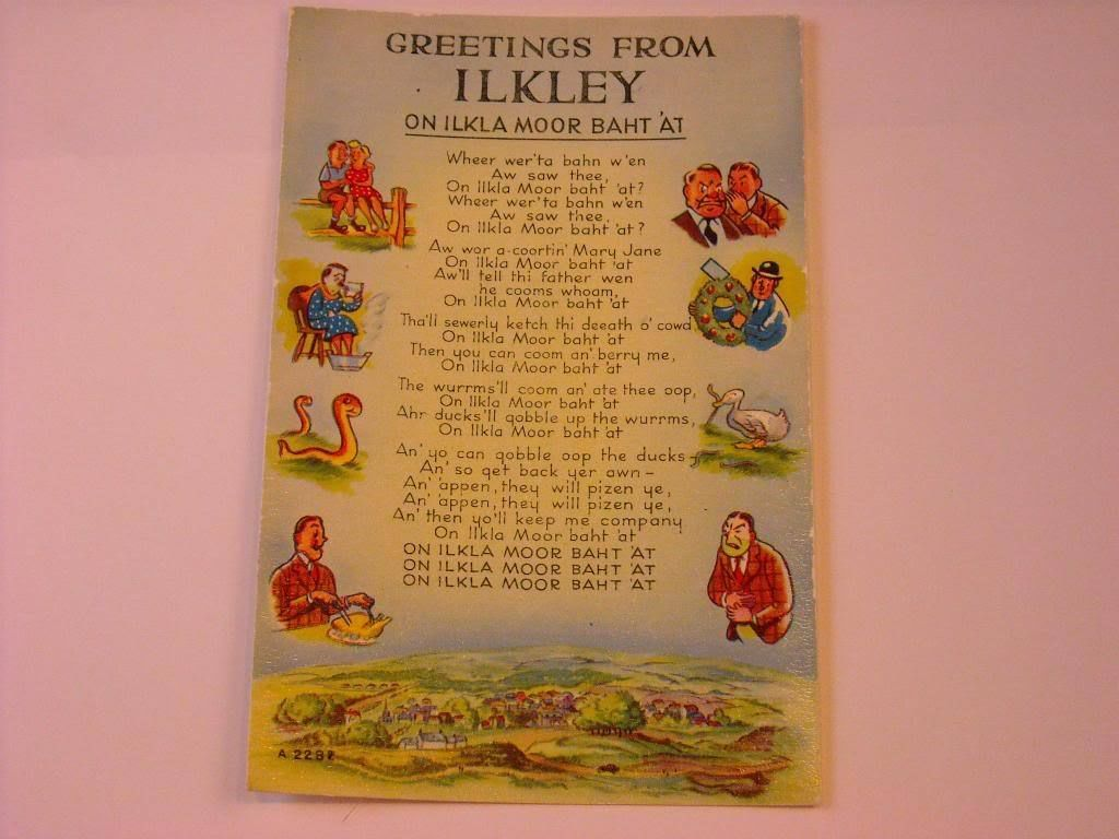 Antique Postcard Ilkley Poem UK
