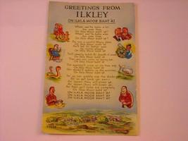 Antique Postcard Ilkley Poem UK