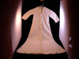 Antique White Doll or Baby lace simple christening Dress