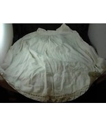 Antique White Lined Bell Skirt hand crocheted trim - $148.49