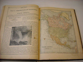 Antique 1875 Elementary Geography Textbook illustrated Swinton image 7