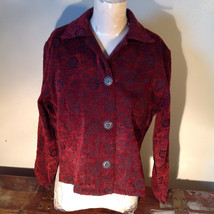 Antique look Button Long Sleeve Shirt with Collar by Touch of Blue Size Small