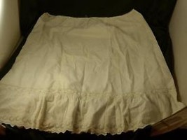 Antique white slip skirt  with circular embroidery eyelets