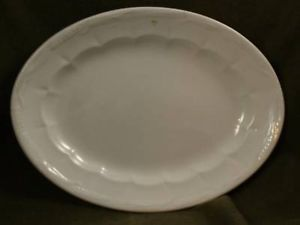 Antqiue Porcelain Ironstone Oval Serving Dish Heakin