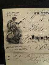 Antique 1860 receipt NYC Duane Street and Church Freeland Squires and Co image 2