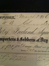 Antique 1860 receipt NYC Duane Street and Church Freeland Squires and Co image 4