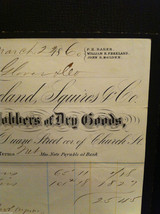 Antique 1860 receipt NYC Duane Street and Church Freeland Squires and Co image 3