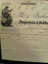 Antique 1860 receipt NYC Duane Street and Church Freeland Squires and Co image 5
