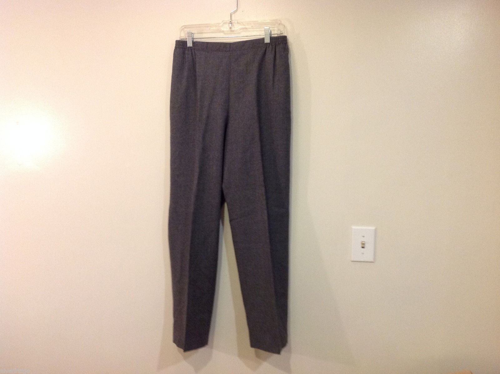 Applesee's Ladies Gray 100% Wool Fully Lined Elastic Back Waist Pants, Size 12
