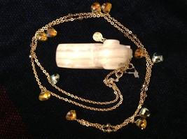 18 Inch Elly Preston Thai Faceted Crystal Pendant Necklace aurora borealis image 2