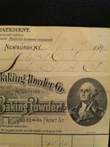 Antique 1894 receipt Washington Baking Powder Co Newburgh New York framed image 2
