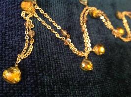 18 Inch Elly Preston Thai Faceted Crystal Pendant Necklace aurora borealis image 3