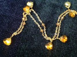 18 Inch Elly Preston Thai Faceted Crystal Pendant Necklace aurora borealis image 4