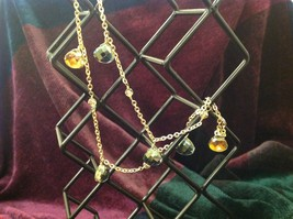 18 Inch Elly Preston Thai Faceted Crystal Pendant Necklace aurora borealis image 5