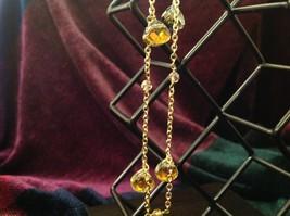 18 Inch Elly Preston Thai Faceted Crystal Pendant Necklace aurora borealis image 6
