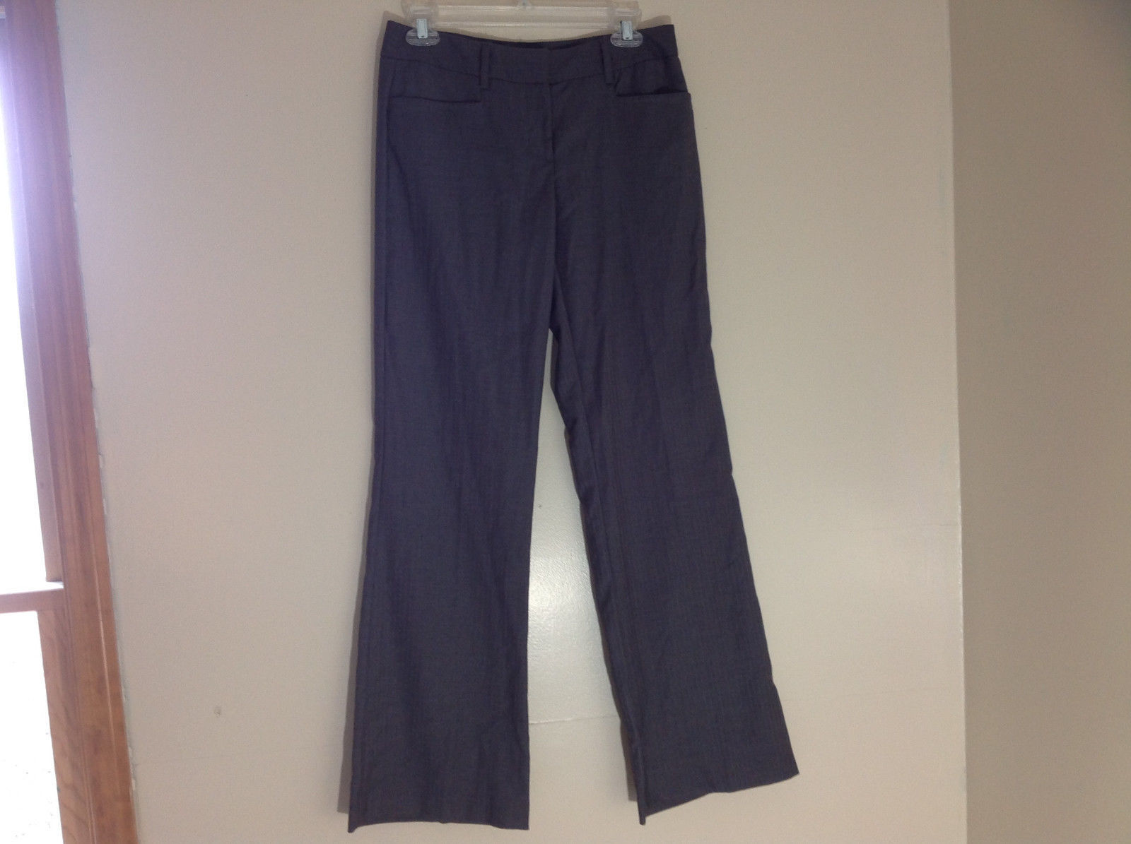 Apt. 9 Modern Fit Gray Pin Striped Dress Pants Front and Back Pockets Size 4