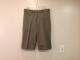 Appraisal Khaki Gray Adjustable Waist Shorts, Size 14