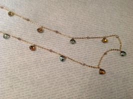 18 Inch Elly Preston Thai Faceted Crystal Pendant Necklace aurora borealis image 8