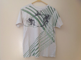 Arizona Green Striped Graphic Design Short Sleeve T-Shirt Size Medium