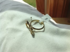 14K gold plated with CZ pave ribbon and bow ring choice size 5 6 7 8 9 image 7