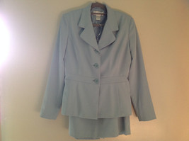 Arctic Blue Matching Skirt and Blazer Suit by Casual Corner Pleated Size 6 image 1