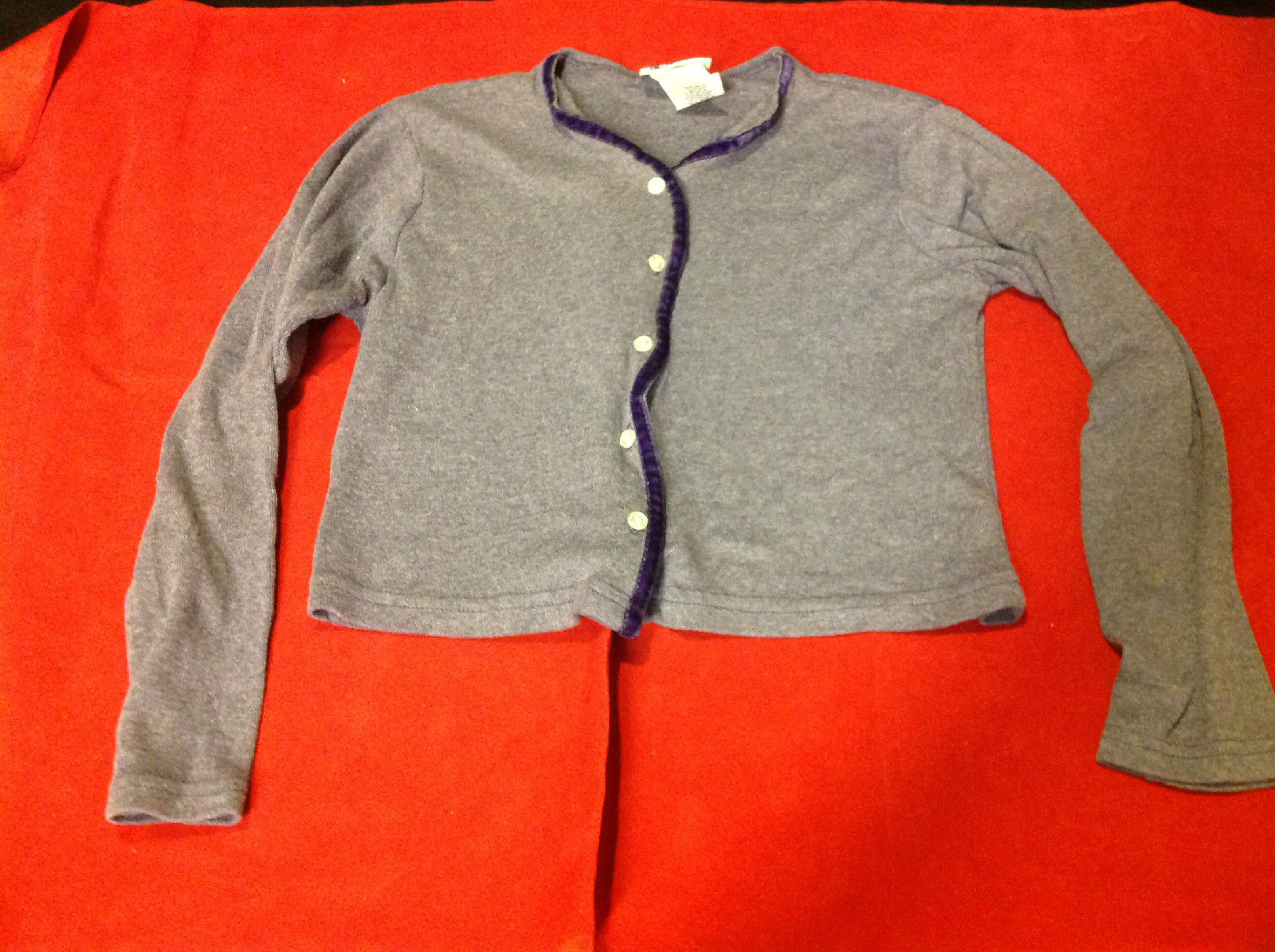 Arizona Girls Purple Colored Cardigan Size M 10-12