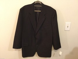 Ascot Chang Mens Black Pinstriped Jacket, Size Unknown, See Measurements