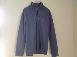 Aspen Gray with Green Zipper Fleece Sweatshirt Front Pocket with Zipper Size L image 1