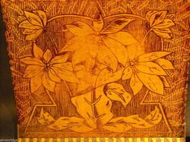 Antique Flemish Art Wood burnt Jewelry Box with Sage green Lining image 3