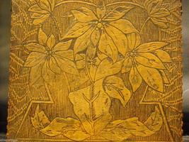Antique Flemish Art Wood burnt Jewelry Box with Sage green Lining image 7