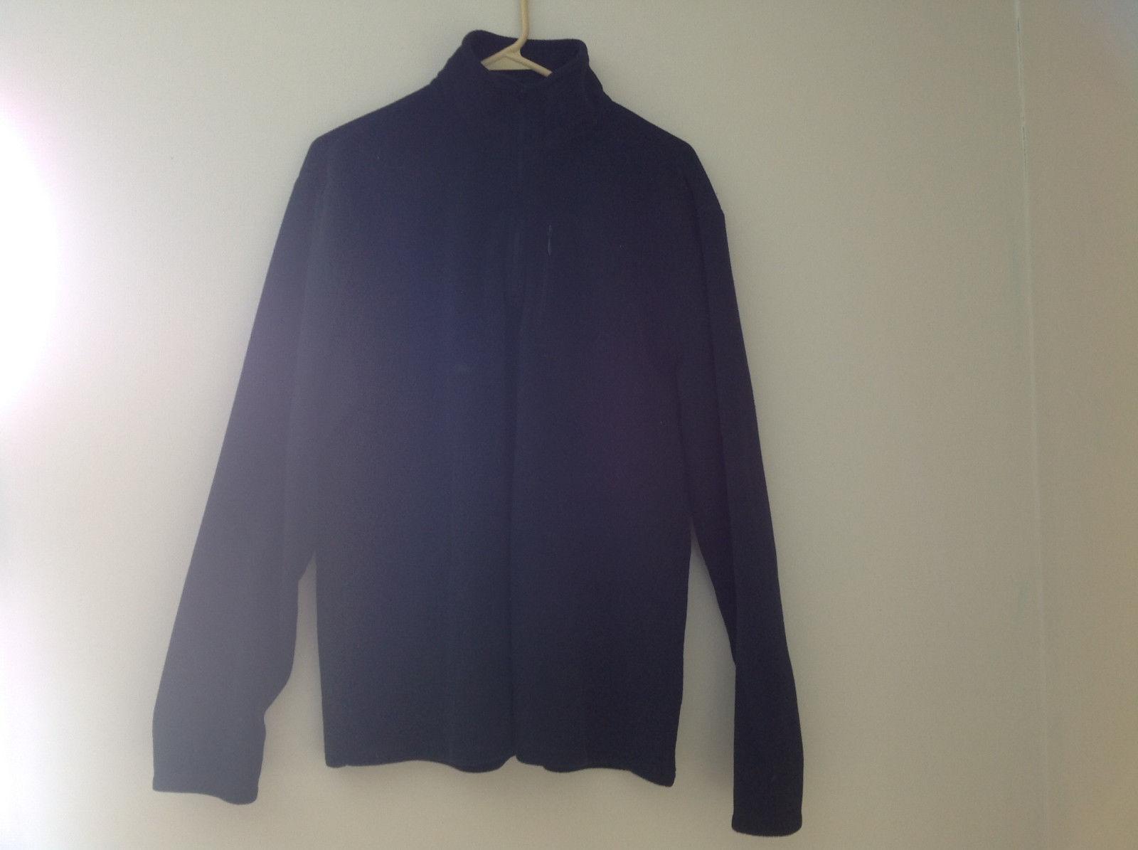 Aspen Black Long Sleeve Fleece Sweatshirt Zip Up Neck Size Large