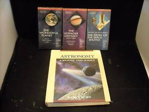 Astronomy Textbook and VHS tapes Kuhn