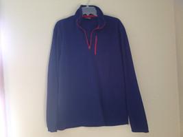 Aspen Navy with Red Zipper Fleece Sweatshirt Zipper at Collar Size Large