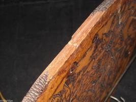 Antique Flemish Art Small Wood burnt key Hanger image 3