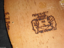 Antique Flemish Art Small Wood burnt key Hanger image 7