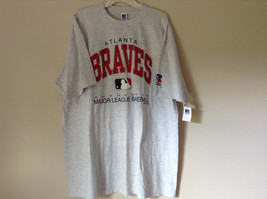 Atlanta Braves Baseball Gray Short Sleeve T Shirt Russel Athletic Size XXL