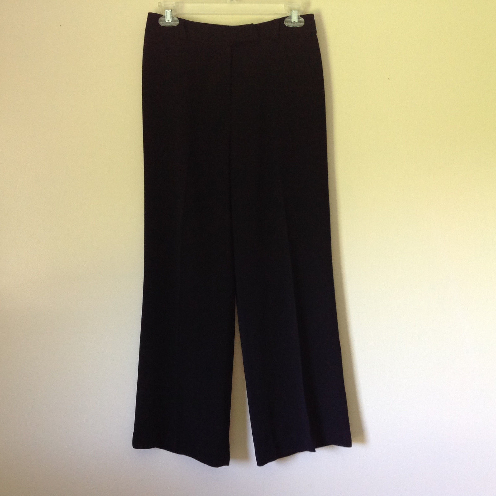 Attractive Anne Brooks Black Dress Pants 100 Percent Polyester Petite Size 10