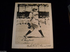 Autographed Babe Ruth Picture Photograph 1947 Rare image